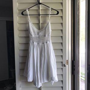 Surf Gypsy White Crochet Dress